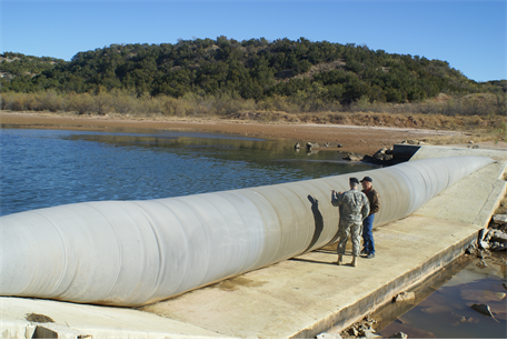 inflatable flood control