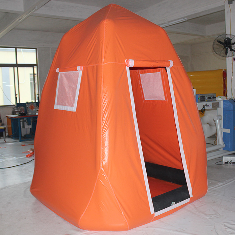 Single decontamination tent