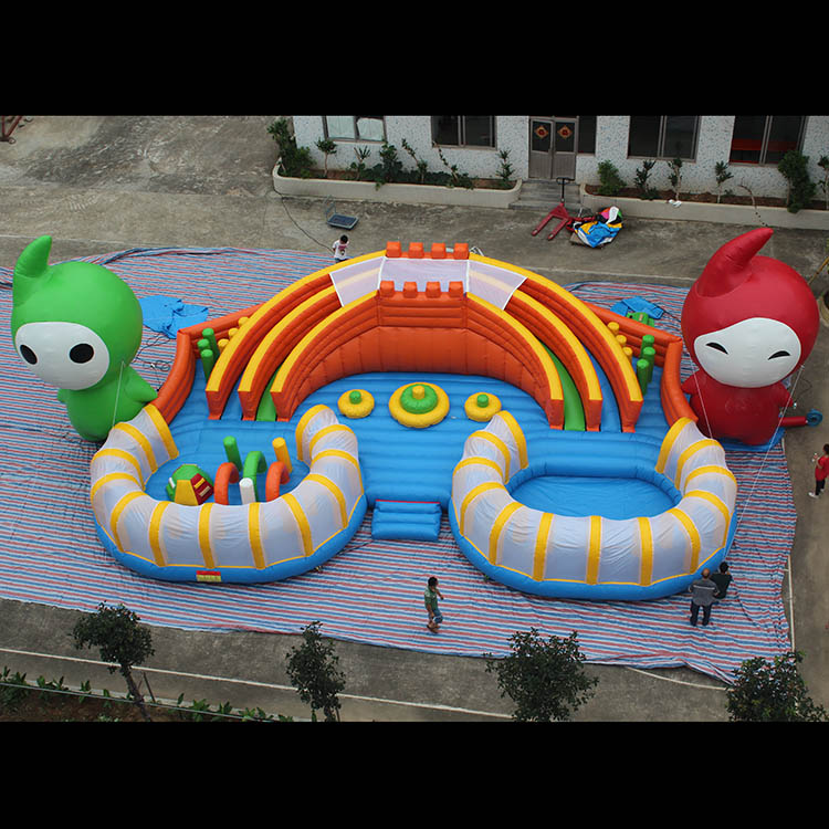 Inflatable elfin slide fun city