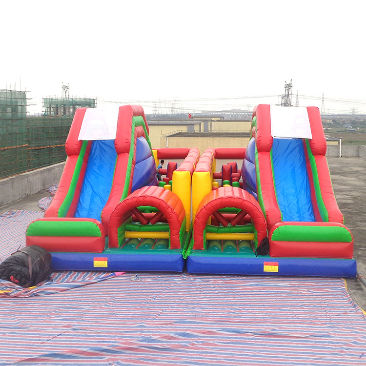 Promotion 2 in 1 inflatable obstacle courses